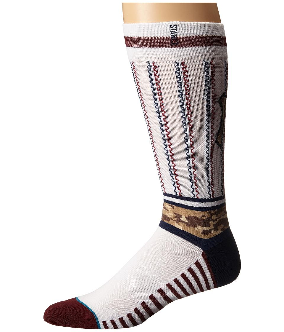 Stance - Sentry Nyy (White) Men's Crew Cut Socks Shoes