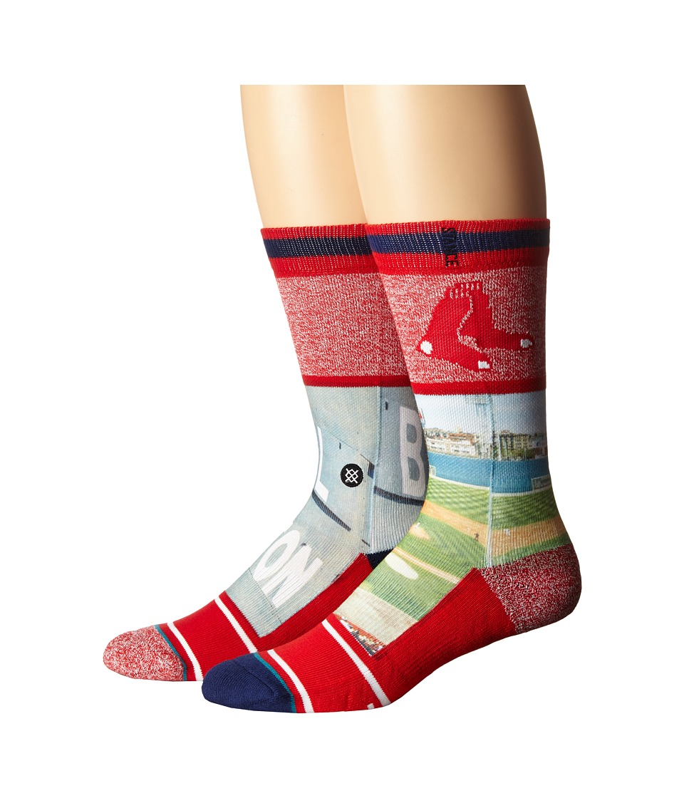 Stance - Fenway Red (Red) Men's Crew Cut Socks Shoes
