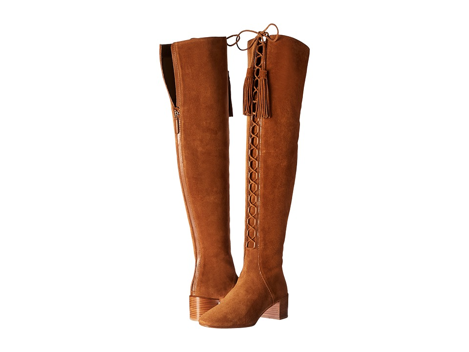 Michael Kors - Harris (Luggage/Black Gold Sport Suede/Smooth Calf) Women's Boots