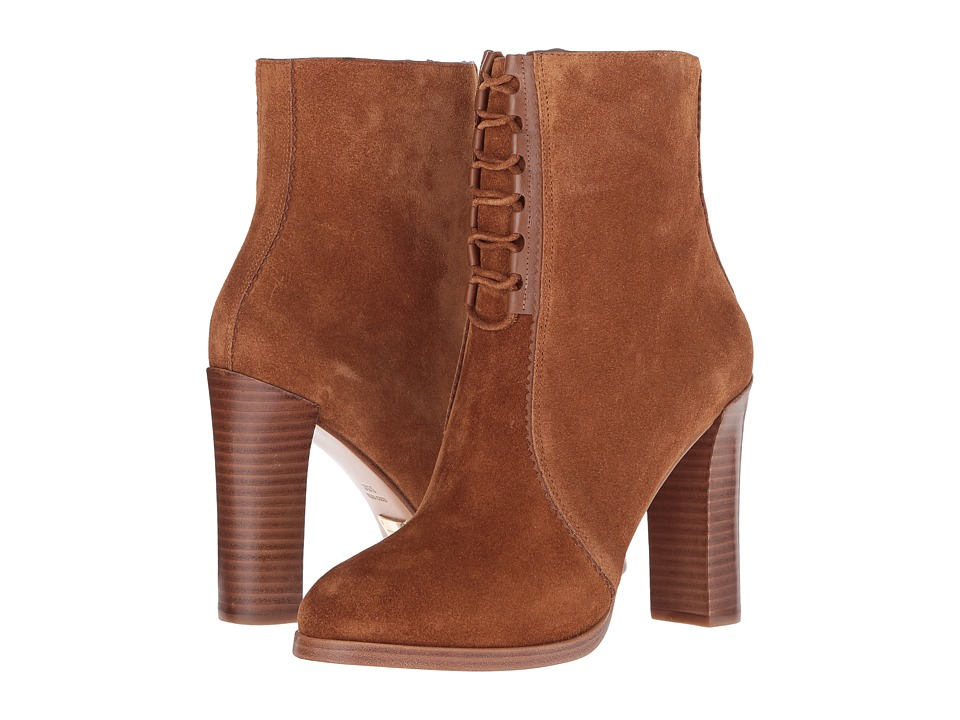 Michael Kors - Odile (Luggage/Black Gold Sport Suede/Smooth Calf) Women's Boots