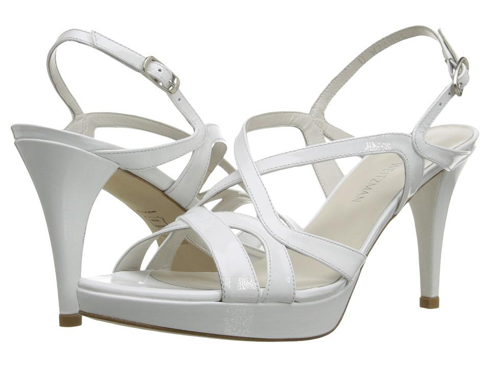 Stuart Weitzman - Axis (White Patent) High Heels