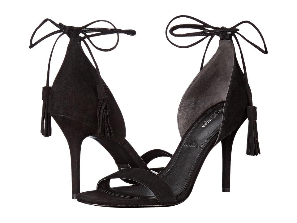 Michael Kors - Rosemary (Black/Palladium Kid Suede) Women's Dress Sandals