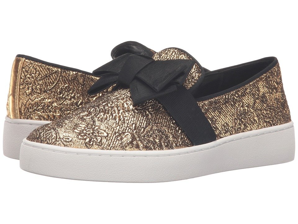 Michael Kors Val (Gold Brocade/Metallic Nappa/Grosgrain) Women