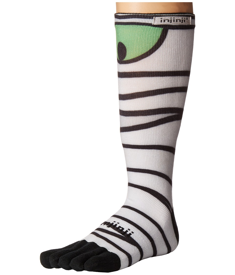 Injinji - Run Lightweight Crew 3-Pack (Halloween Mummy) Crew Cut Socks Shoes
