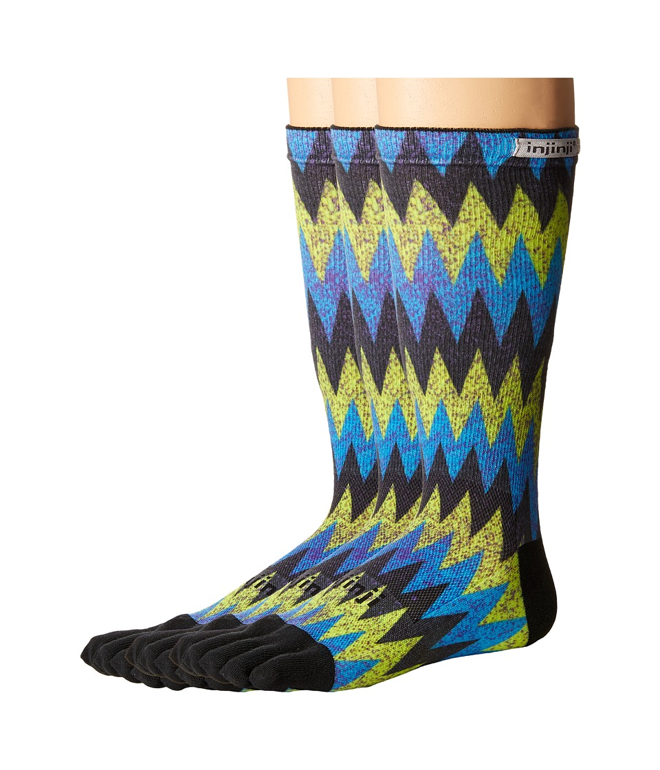 Injinji - Run Lightweight Crew 3-Pack (Sonic Spectrum) Crew Cut Socks Shoes