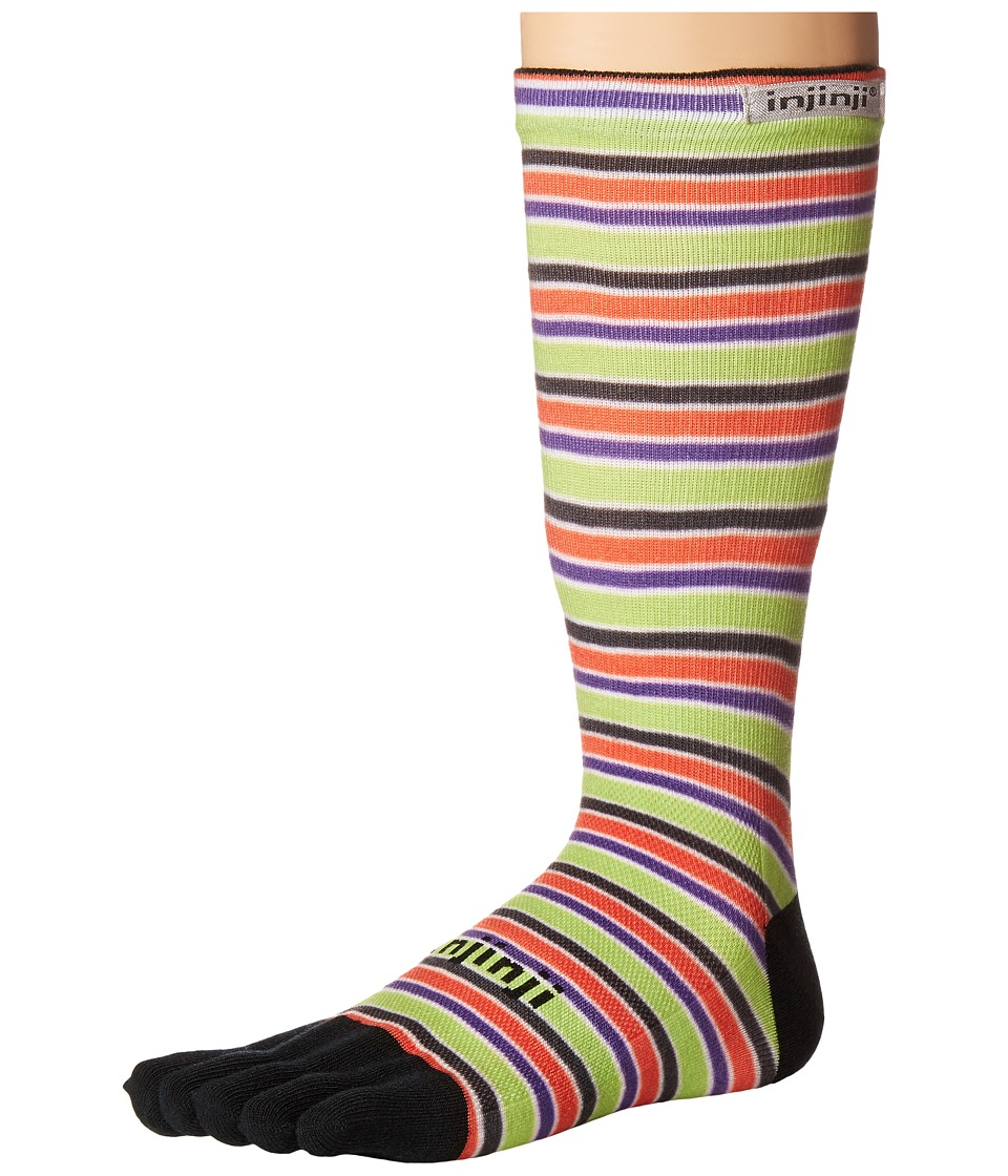 Injinji - Run Lightweight Crew 3-Pack (Halloween Stripe) Crew Cut Socks Shoes