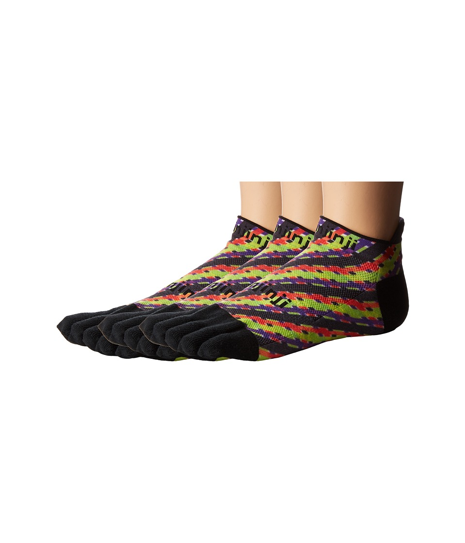 Injinji - Run Lightweight No Show 3-Pack (Halloween Plaid) No Show Socks Shoes
