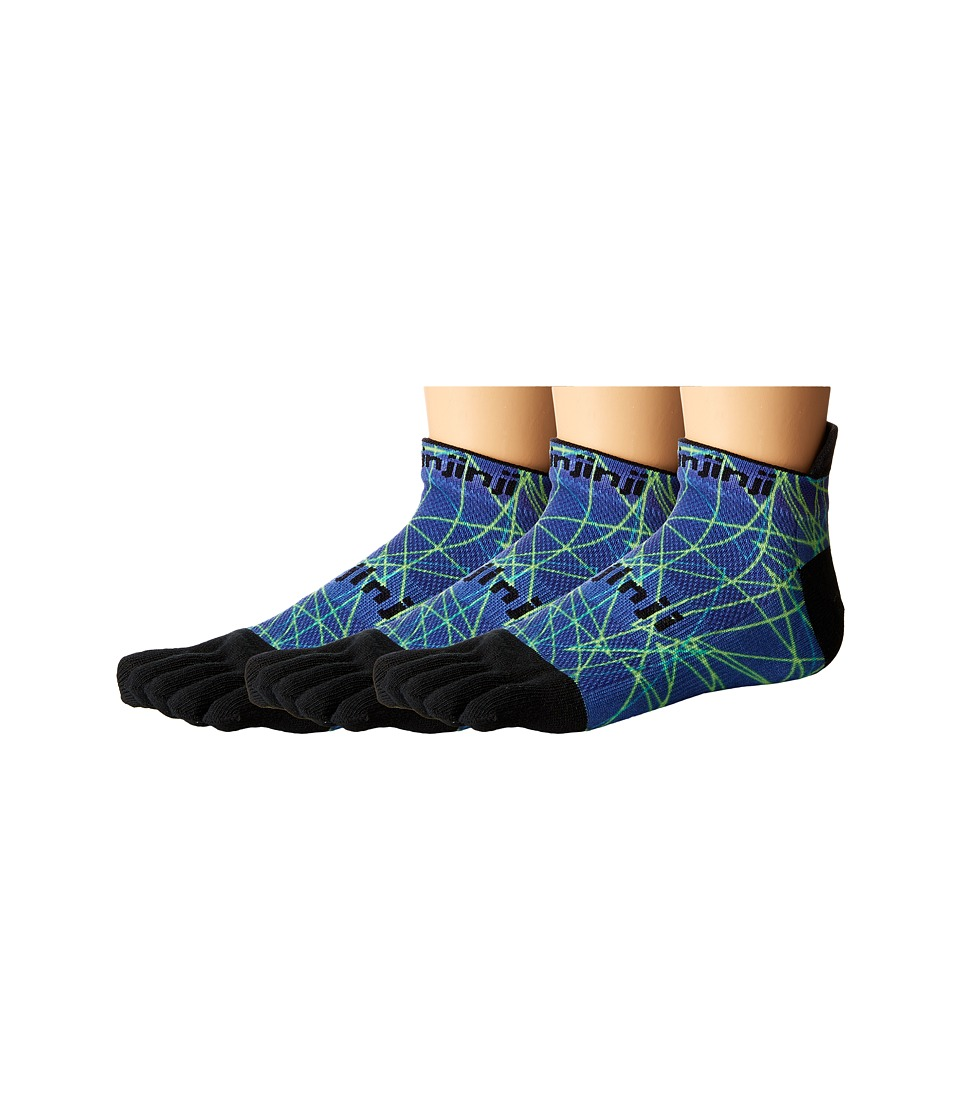 Injinji - Run Original Weight No Show 3-Pack (Ocean Spectrum) No Show Socks Shoes