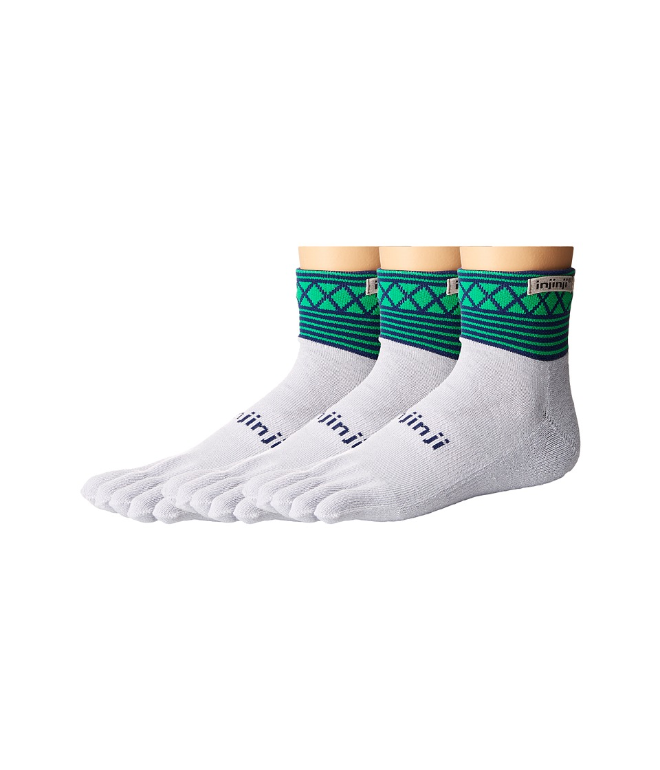 Injinji - Trail Midweight Mini Crew 3-Pack (Python) Crew Cut Socks Shoes