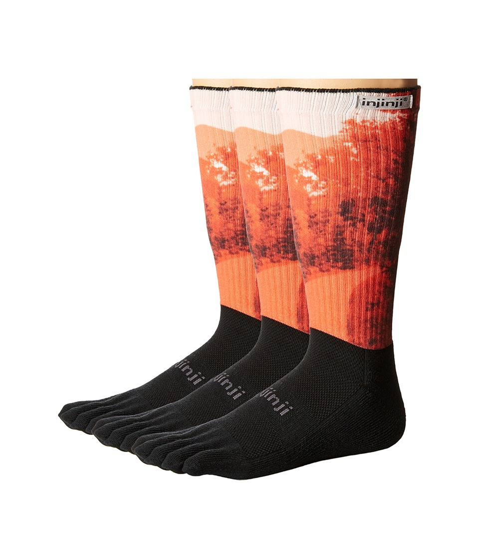 Injinji - Trail Midweight Crew 3-Pack (Grove Spectrum) Crew Cut Socks Shoes