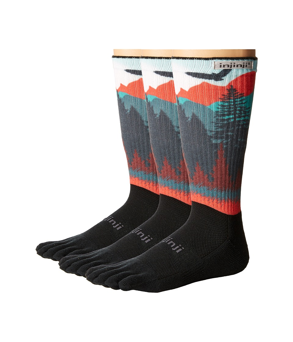 Injinji - Trail Midweight Crew 3-Pack (Sierra Spectrum) Crew Cut Socks Shoes