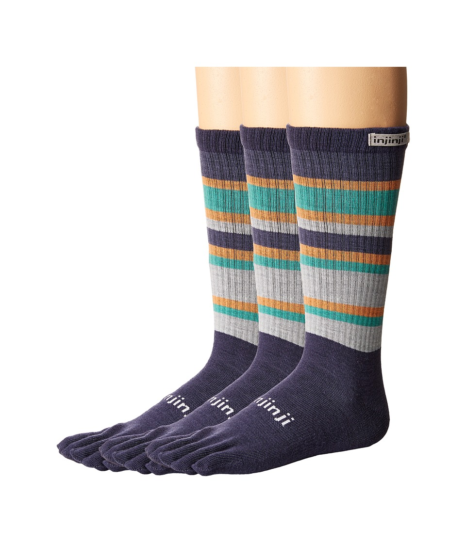 Injinji - Outdoor 2.0 Original Weight Crew NuWool 3-Pair Pack (Sequoia) No Show Socks Shoes