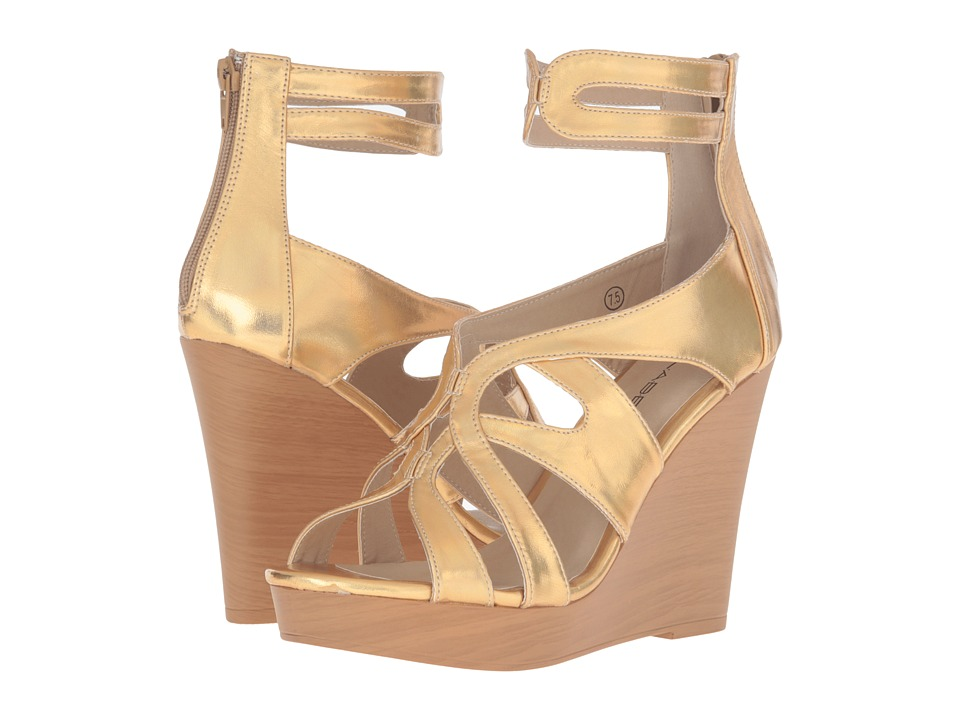 C Label - Baldwin-5 (Gold) Women's Wedge Shoes