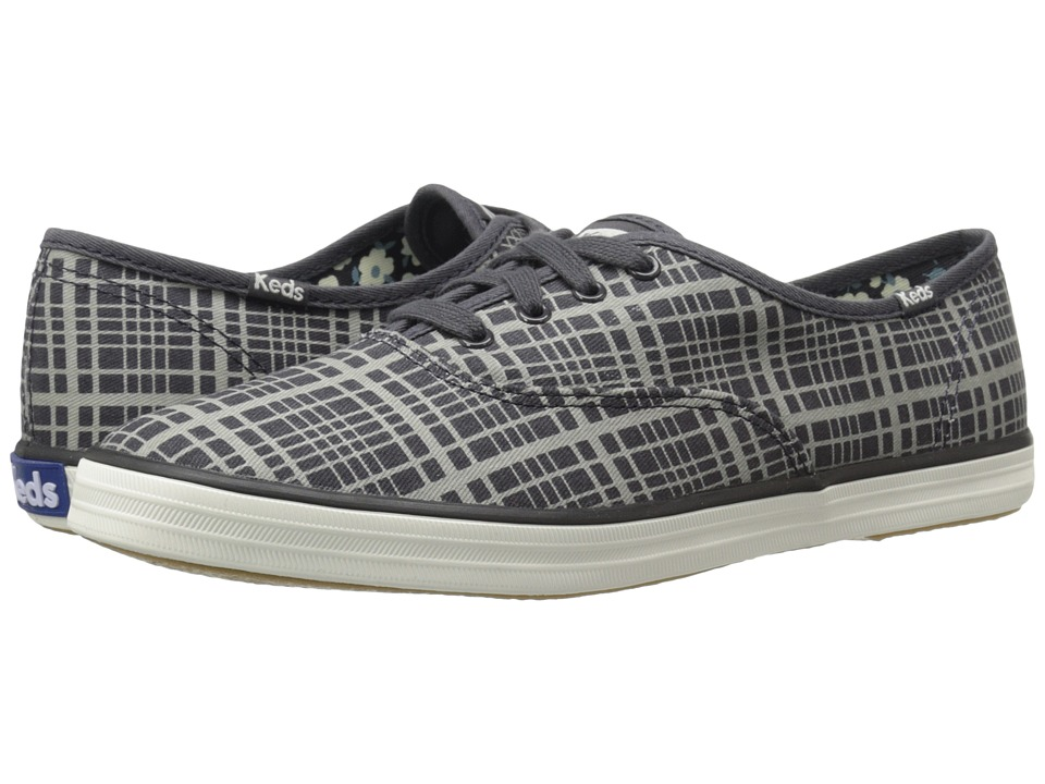 Keds Champion Hanky Plaid (Drizzle Grey) Women