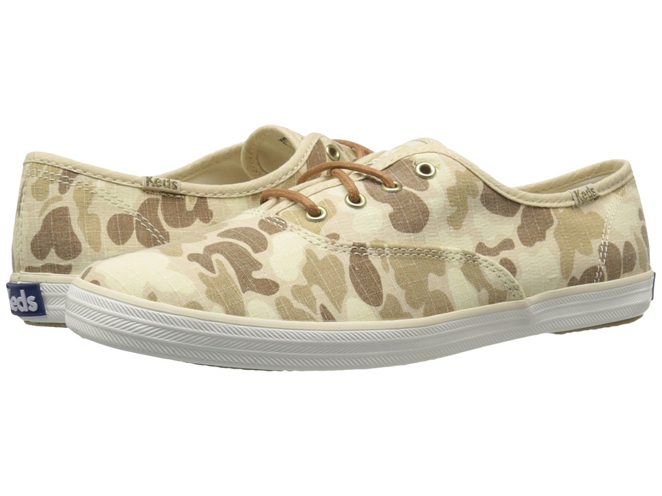Keds Champion Camo Ripstop (Tan) Women
