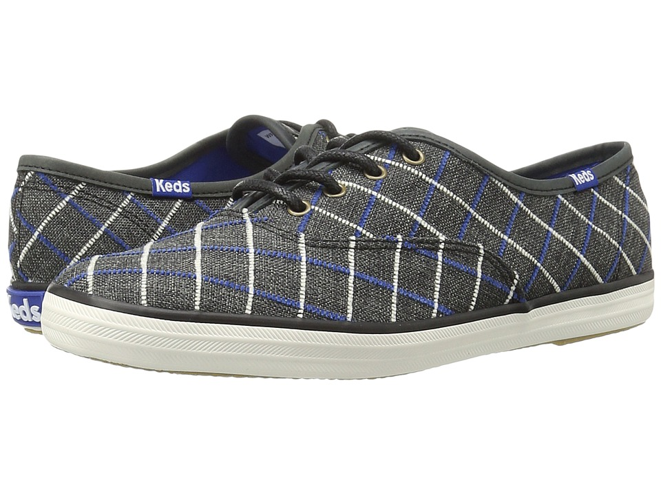 Keds Champion Windowpane Plaid (Black) Women