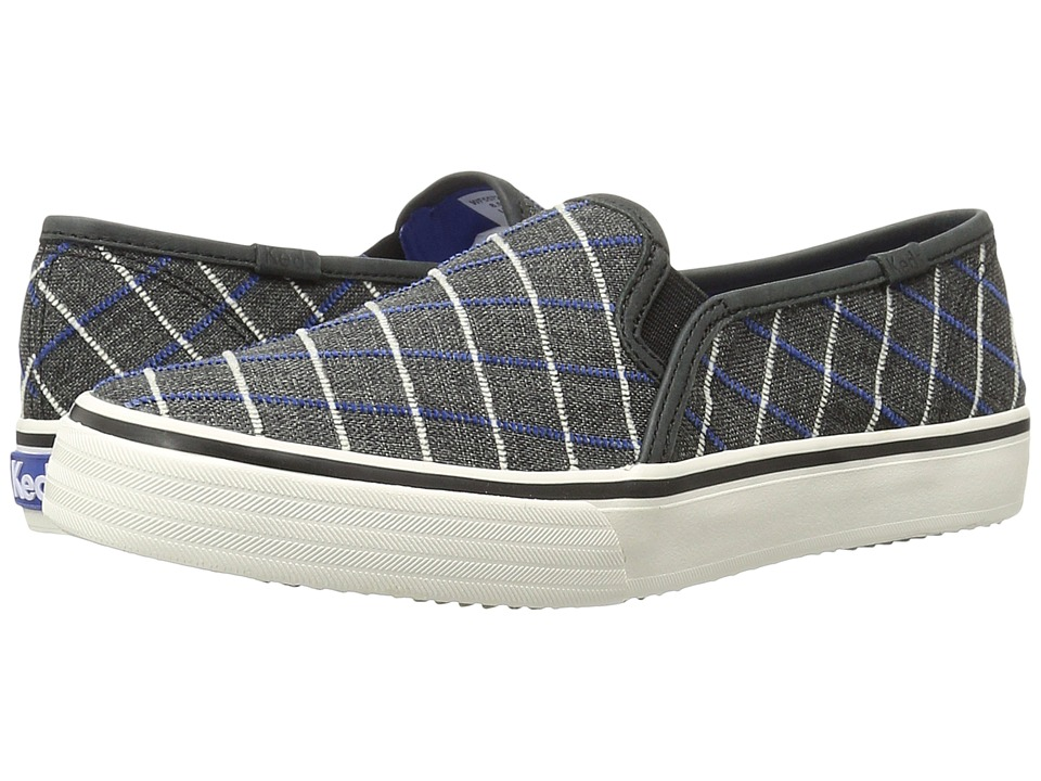 Keds Double Decker Window Pain Plaid (Black) Women