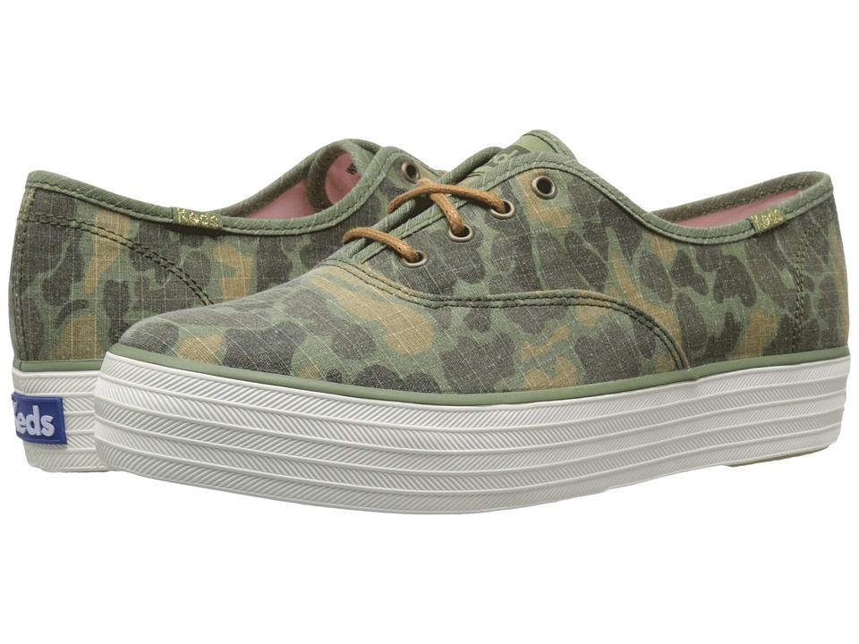 Keds - Triple Camo Ripstop (Olive Camo) Women's Shoes