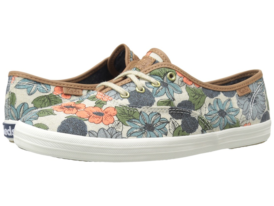Keds - Champion 70s Floral (Blue Multi) Women's Shoes