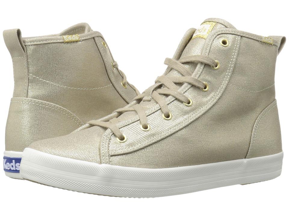 Keds - Kickstart Hi Metallic (Gold) Women's Shoes