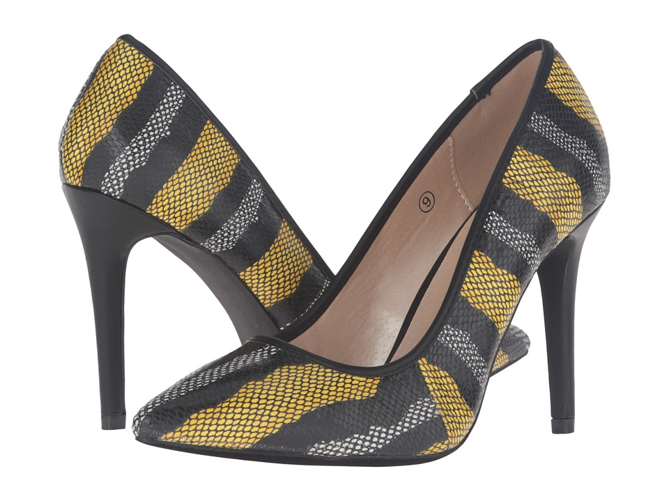 C Label Liberty-18A (Yellow) High Heels