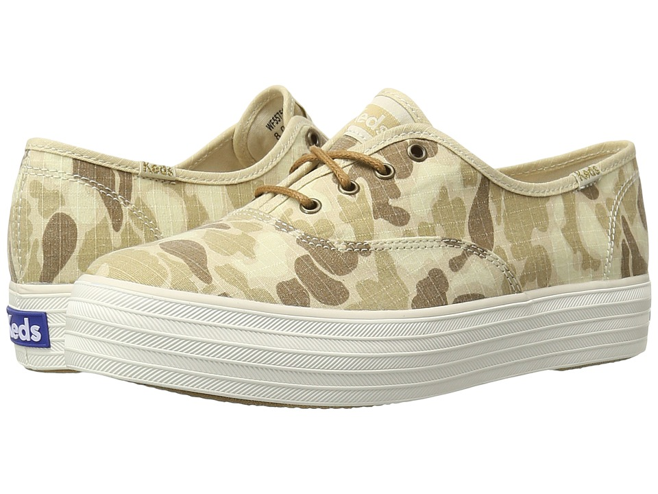 Keds - Triple Camo Ripstop (Tan Camo) Women's Shoes