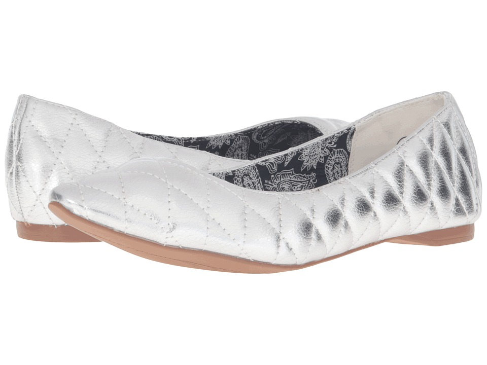C Label - Paige-2 (Silver) Women's Flat Shoes