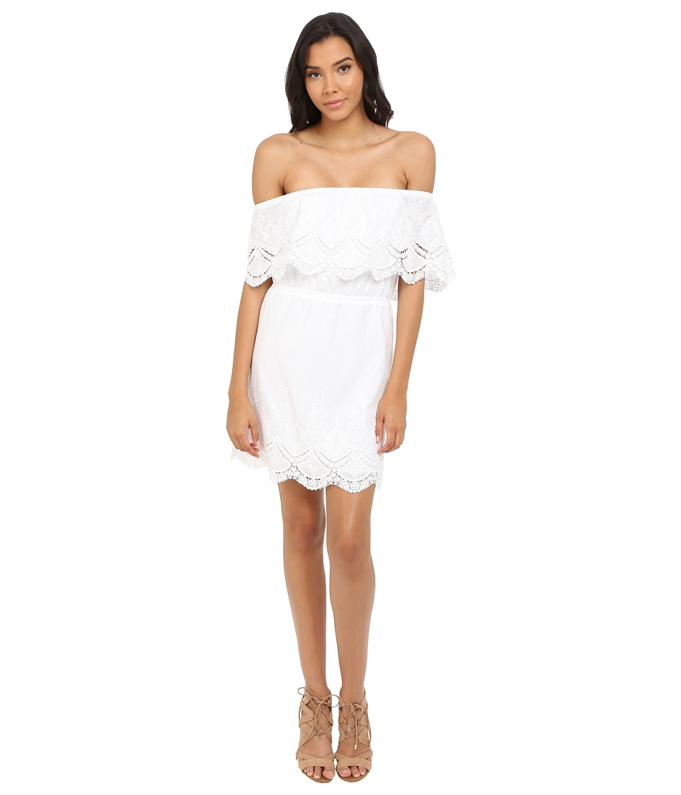 kensie Crochet Embroidered Cotton Dress KS4K920S (White) Women