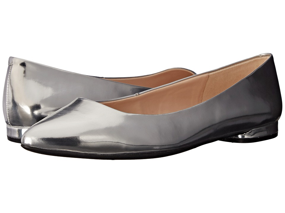 Nine West - Onlee (Silver Synthetic) Women's Slip-on Dress Shoes