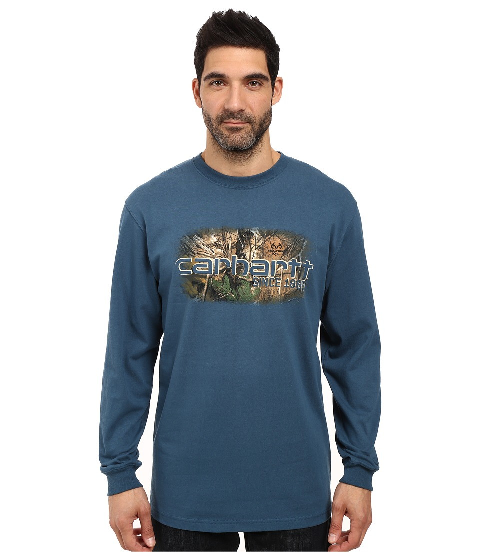 Carhartt - Workwear Graphic Camo 1889 Long Sleeve Tee (Stream Blue) Men's T Shirt