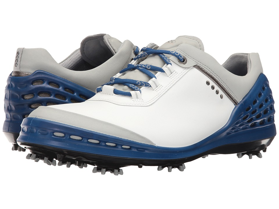ECCO Golf - Cage (White/Royal 1) Men's Shoes