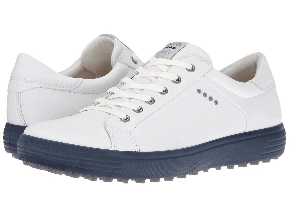 ECCO Golf - Golf Casual Hybrid (White/Marine) Men's Golf Shoes