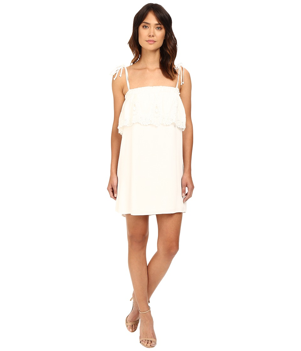 Stone Cold Fox Muriel Dress (White Crepe/Lace Trim) Women