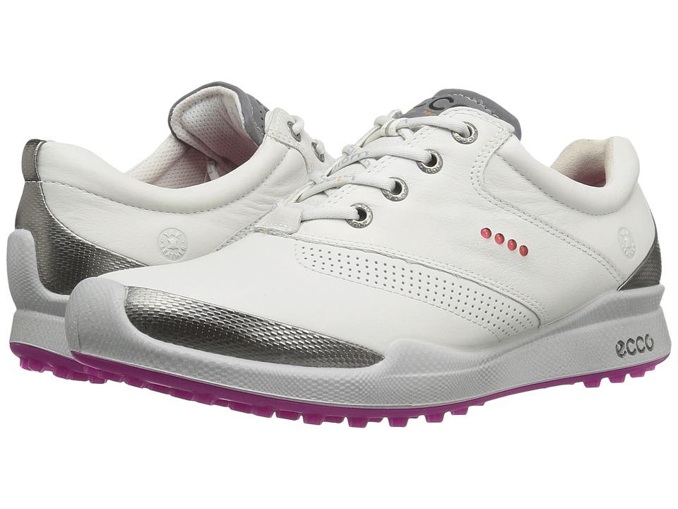ECCO Golf BIOM Hybrid Hydromax (White/Candy) Women