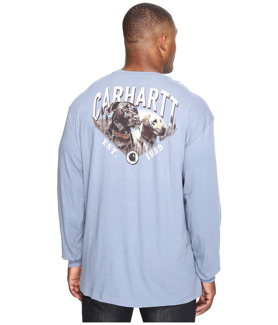 Carhartt - Big Tall Maddock Graphic Carhartt's Best Friend Long Sleeve Pocket T-Shirt (Flint Stone) Men's Long Sleeve Pullover