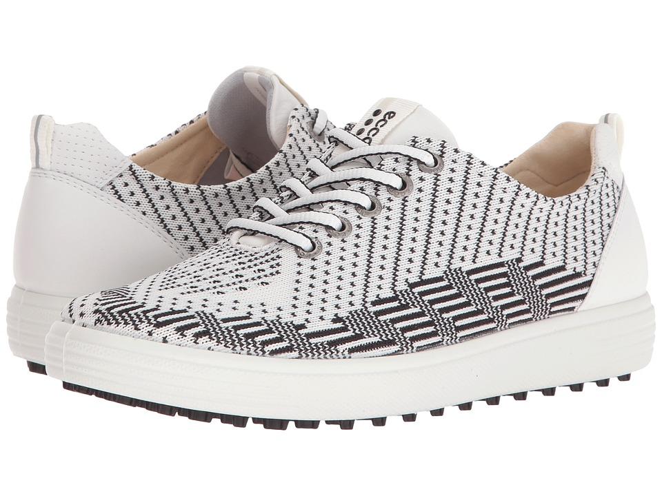 ECCO Golf Casual Hybrid Knit (White/Black/White) Women