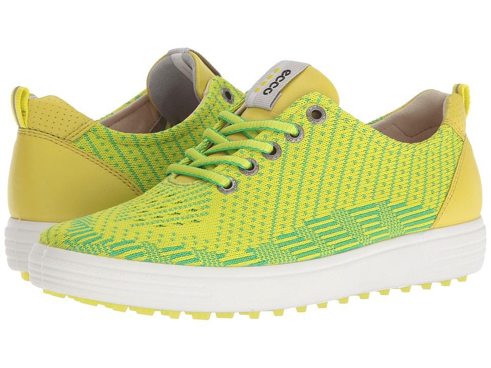 ECCO Golf - Casual Hybrid Knit (Lime Punch/Toucan Neon/Sulphur) Women's Golf Shoes