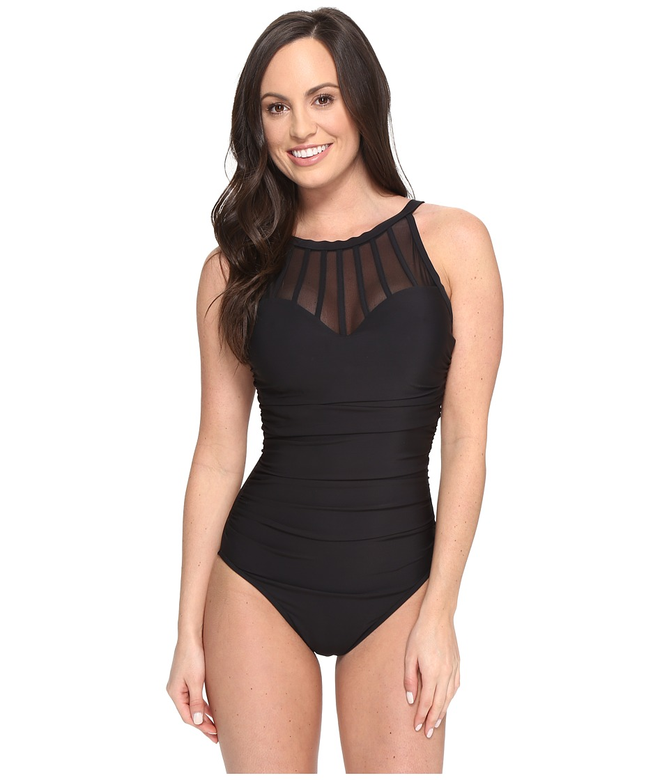 Magicsuit - Solids Anastasia One-Piece (Black) Women's Swimsuits One Piece