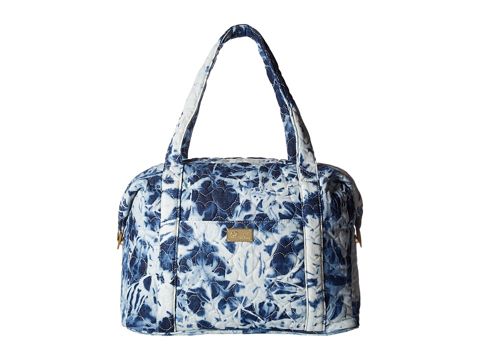 Luv Betsey - Player Quilted Cotton Weekender (Denim) Weekender/Overnight Luggage