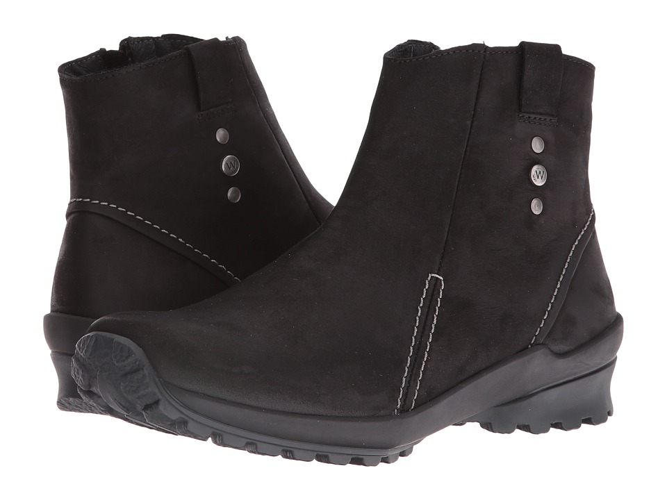 Wolky - Zion Waterproof (Black Nepal Oiled Leather) Women's Waterproof Boots