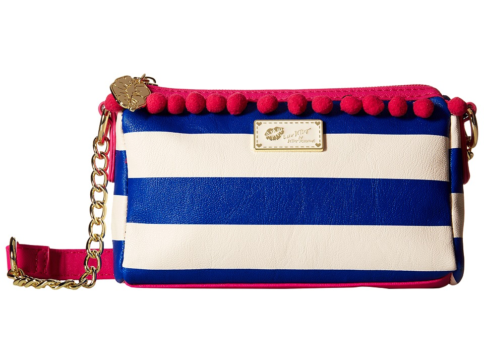 Luv Betsey - Lola Crossbody (Navy/White) Cross Body Handbags