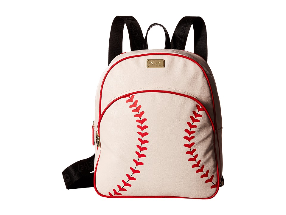 Luv Betsey - Homerun Backpack (Cream) Backpack Bags