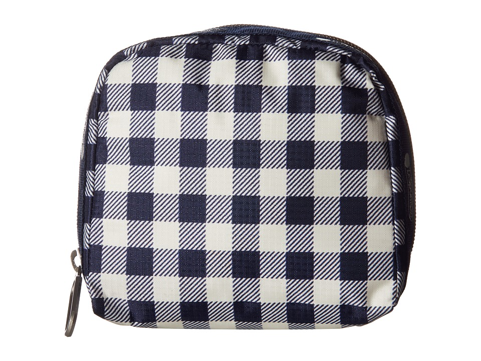LeSportsac - SQ Essential Cosmetic Case (Gingham Classic Navy) Cosmetic Case