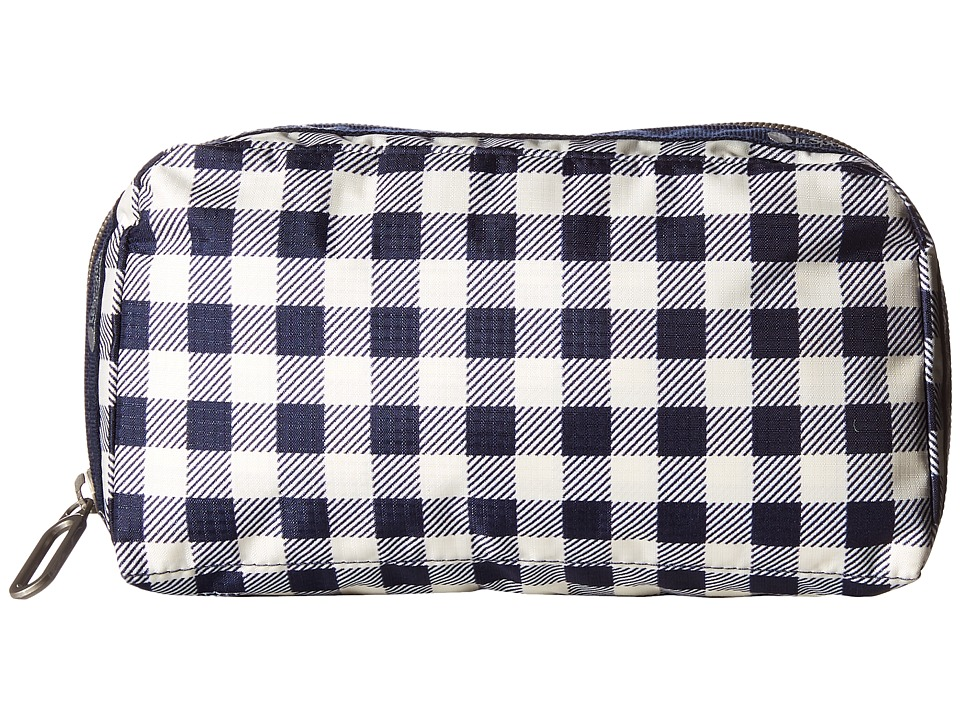 LeSportsac - Essential Cosmetic Case (Gingham Classic Navy) Cosmetic Case