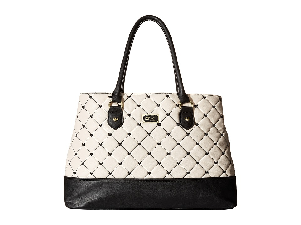 Luv Betsey - Cammie Satchel (Black/White) Satchel Handbags