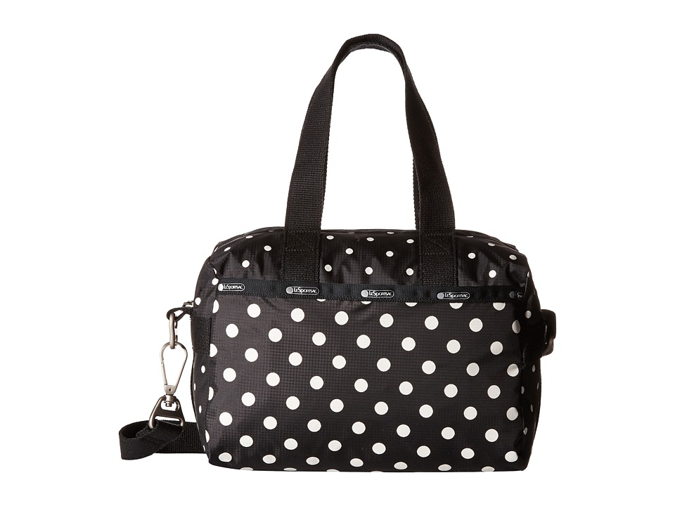 LeSportsac - Small Uptown Satchel (Sun Multi Black) Satchel Handbags