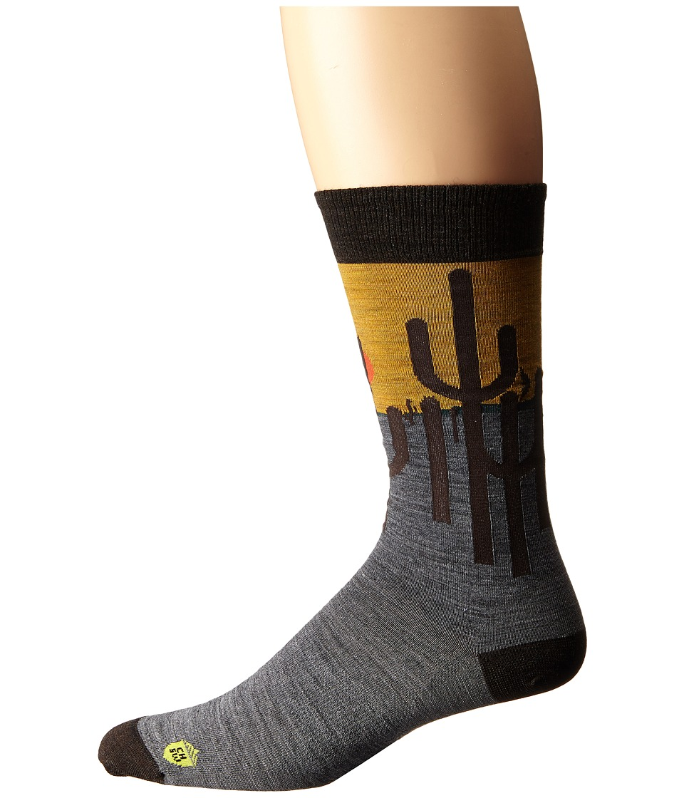 Smartwool - Charley Harper National Park Poster Horizon Cactus (Medium Gray) Men's Crew Cut Socks Shoes