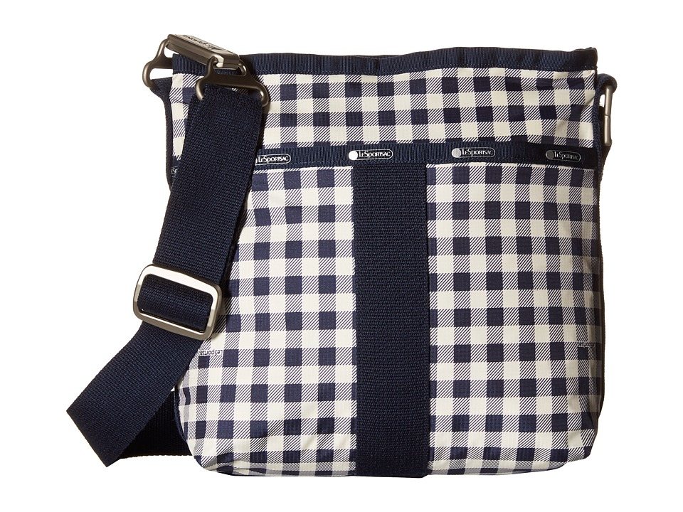 LeSportsac - Essential Crossbody (Gingham Classic Navy) Cross Body Handbags