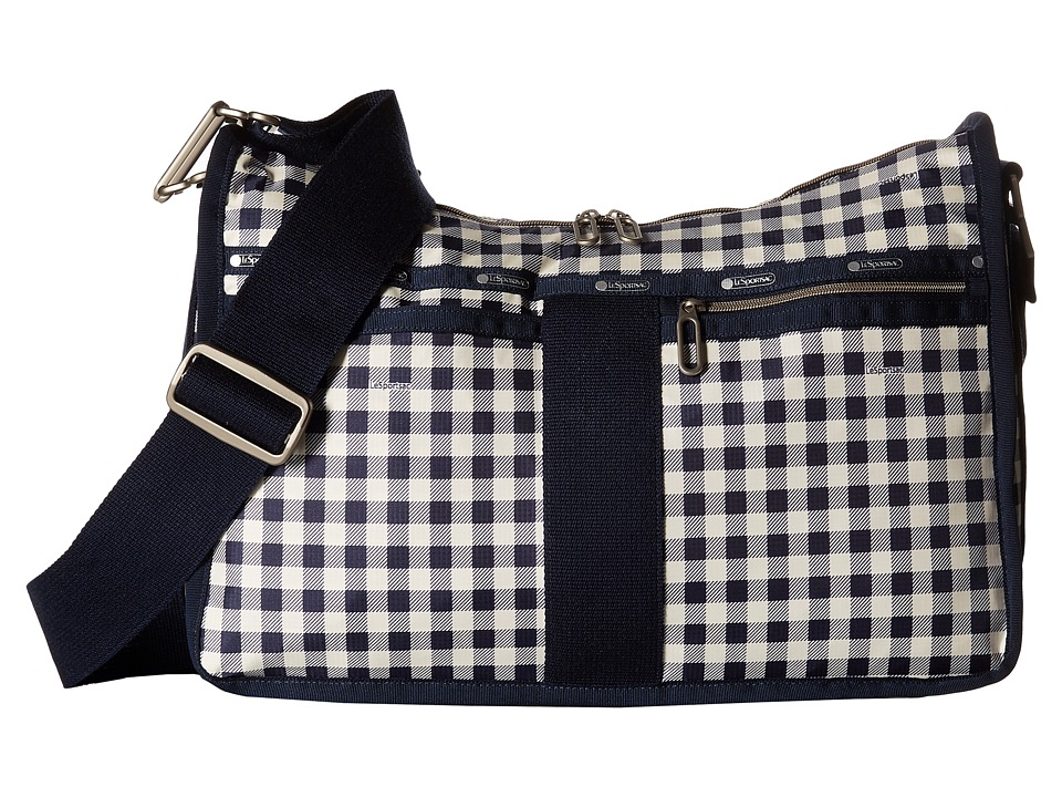 LeSportsac - Everyday Bag (Gingham Classic Navy) Handbags
