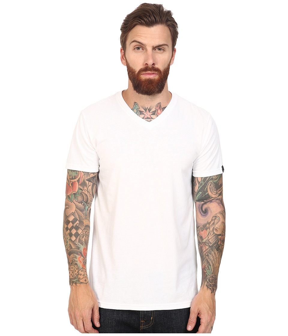 Oakley - V-Neck Tee (White) Men's T Shirt